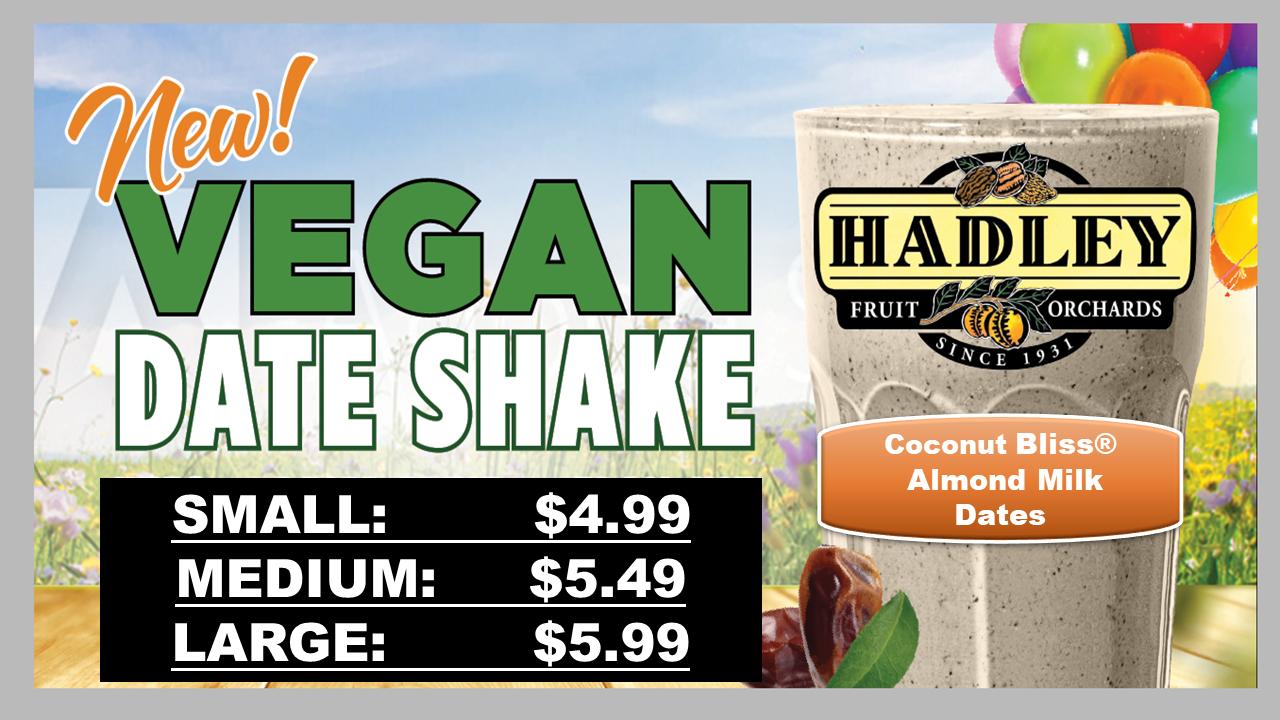 New! Vegan Date Shake